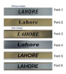 Lahore Clock Name Plate |World Time Zone City Wall clocks Sign custom Plaque